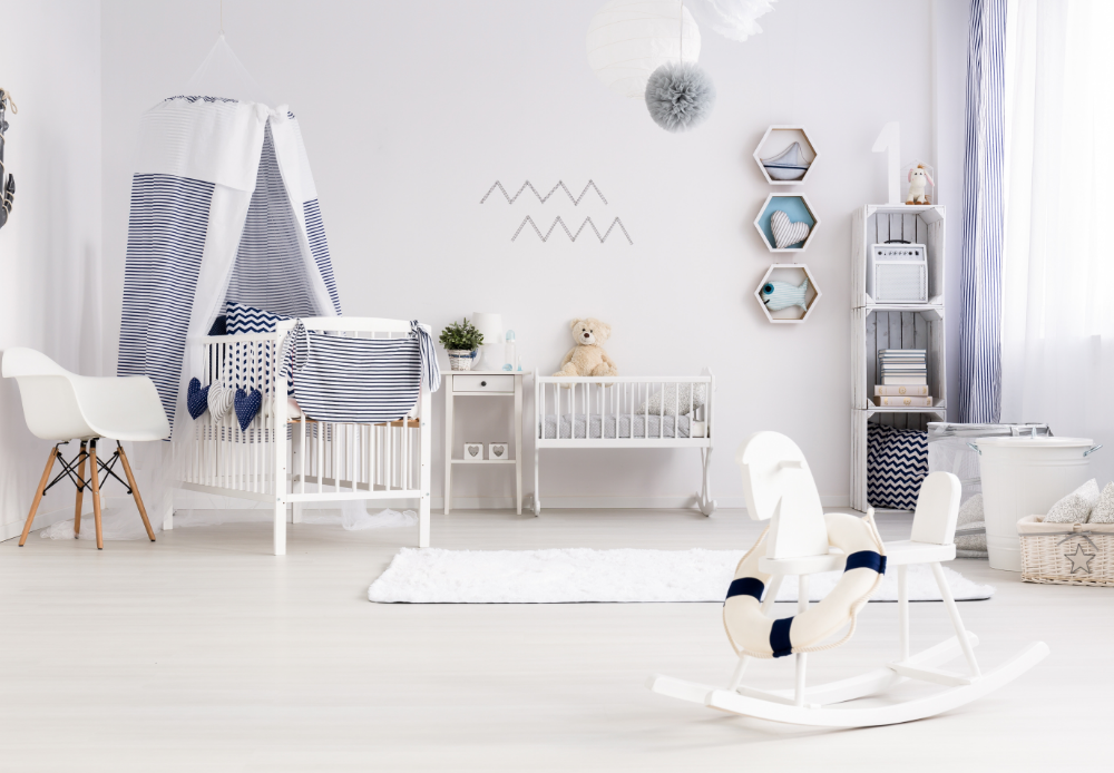 set up babies sleeping area