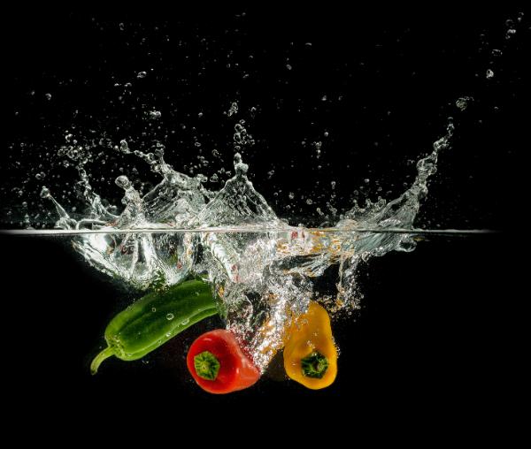 unwashed veggies